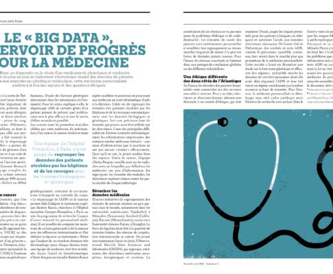 Le «big data», réservoir de progrès pour la médecine