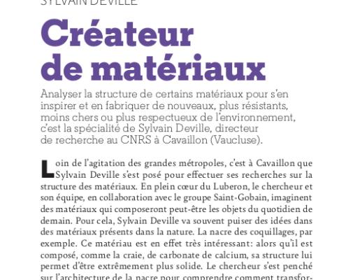 Sylvain Deville: Créateur de matériaux